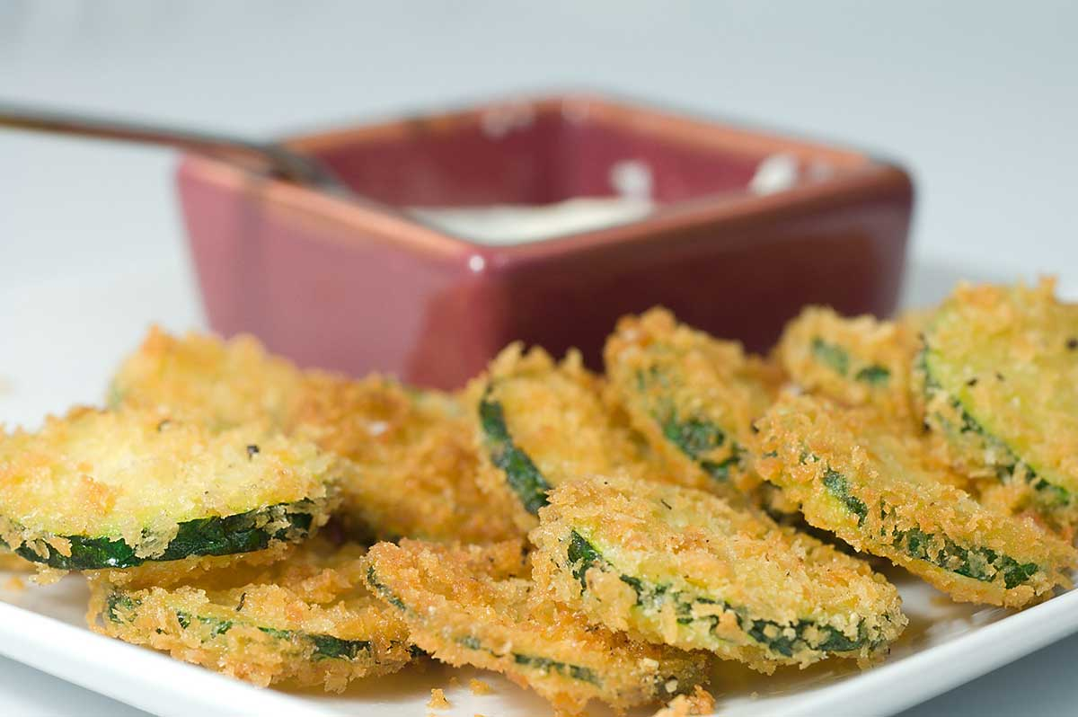Fried Panko Crusted Zucchini - Life's Ambrosia