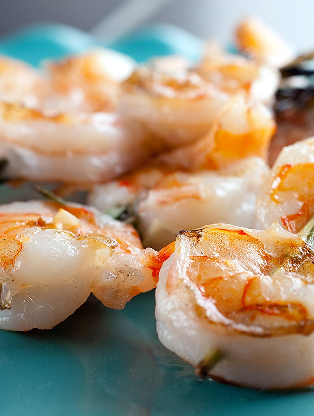 Grilled Shrimp and Rosemary Skewers