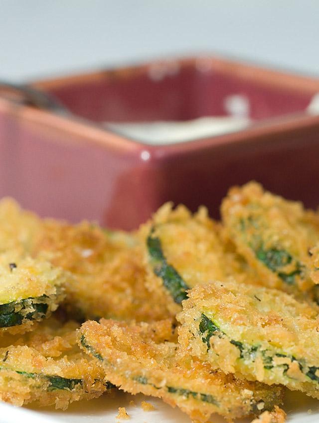 Fried Panko Crusted Zucchini