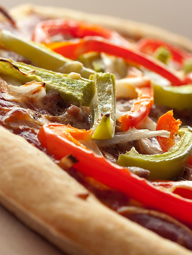 Sausage, Pepper and Onions Pizza