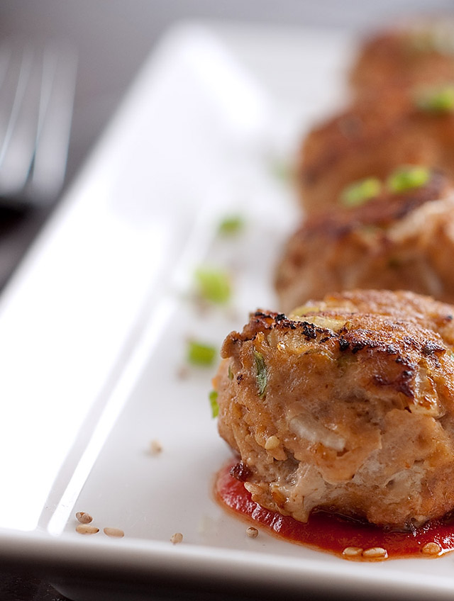 Sriracha Turkey Meatballs