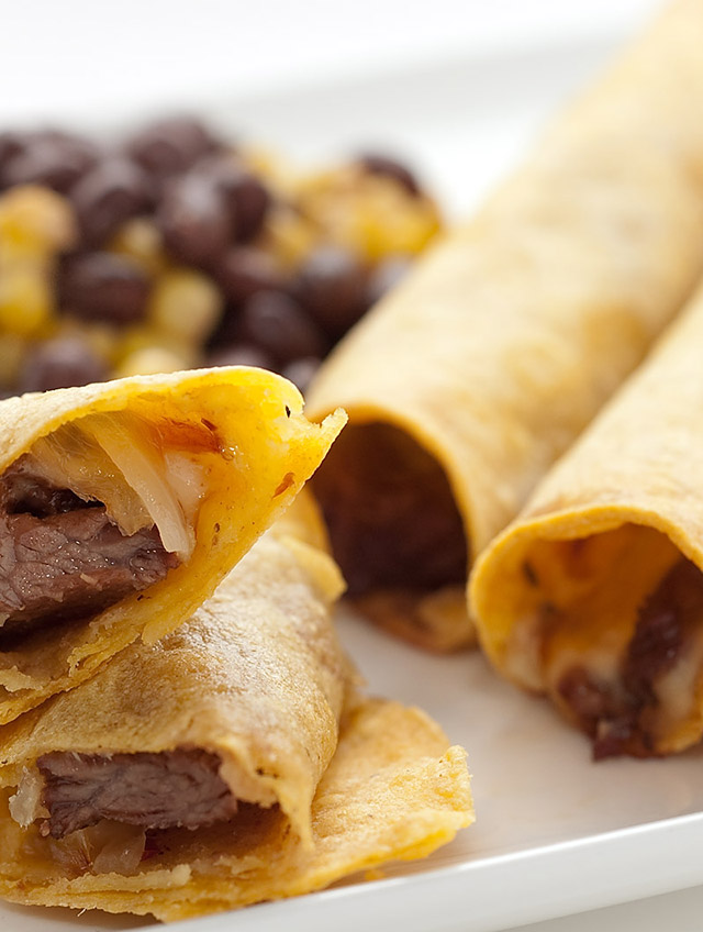 Steak and Pepperjack Taquitos