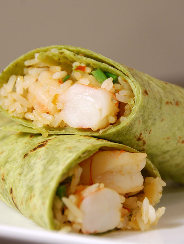 Thai Prawn Wrap