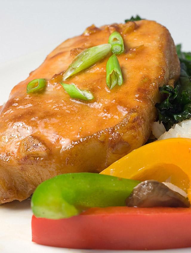 Baked Asian Style Pork Chops