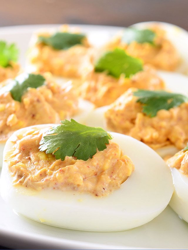Chili Spiced Deviled Eggs