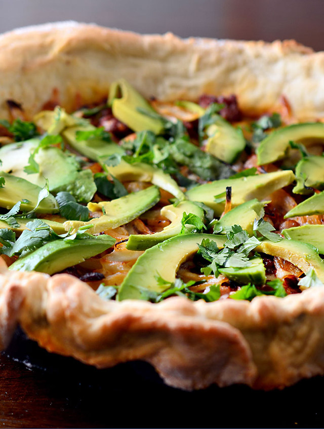 Chorizo Avocado Pizza