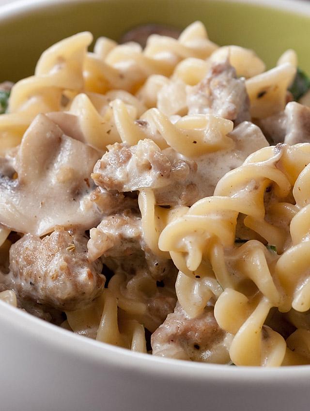 Creamy Mushroom and Sausage Pasta - Life's Ambrosia