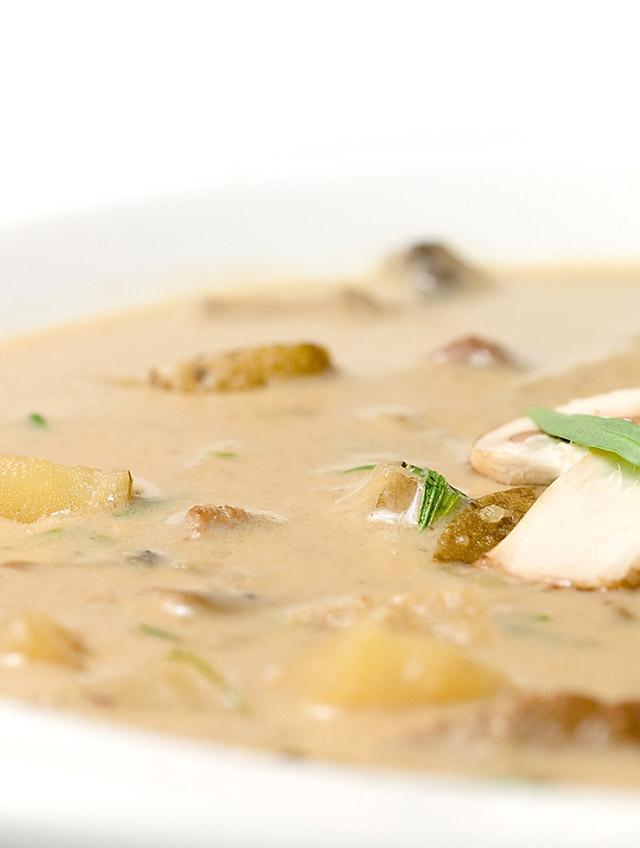 Creamy Steak and Mushroom Soup