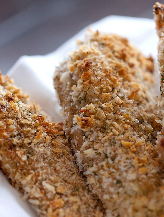 Crispy Dill and Garlic Chicken Tenders