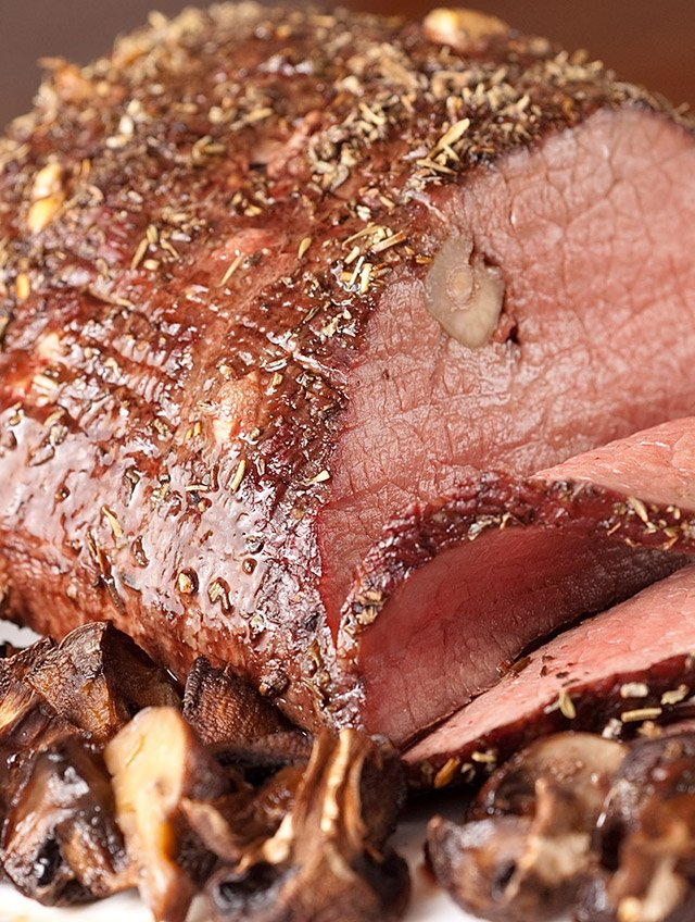 Garlic Studded Herb Roast Beef