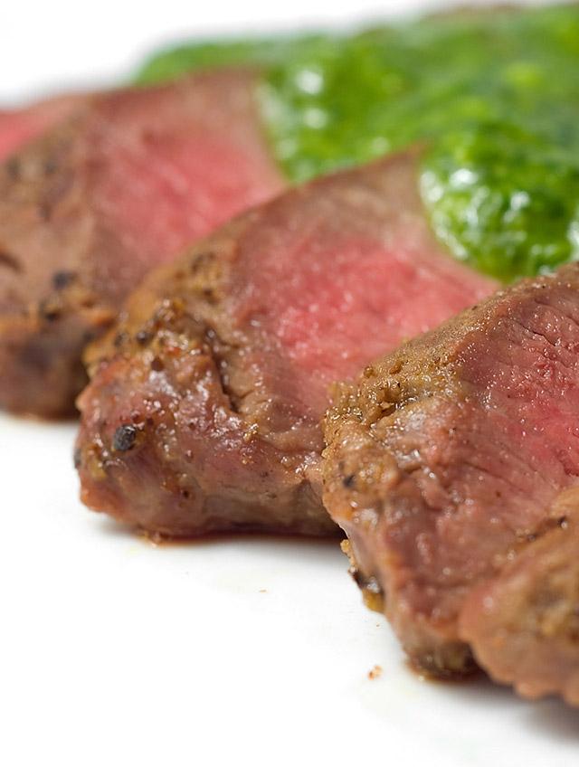 Grilled Flat Iron Steak with Chimichurri Sauce - Life's Ambrosia