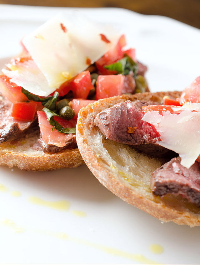 Grilled Steak Bruschetta