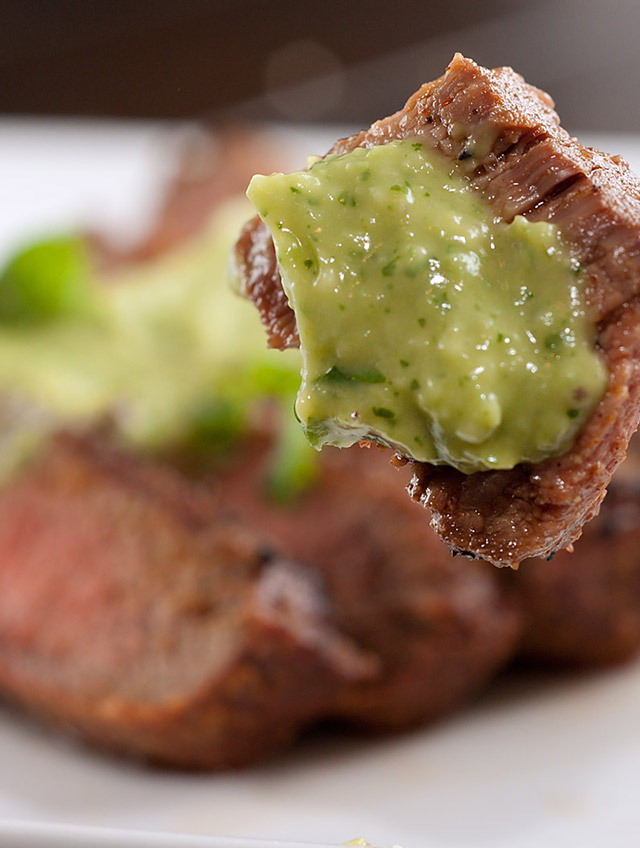 Grilled Steak with Avocado Sauce - Life's Ambrosia
