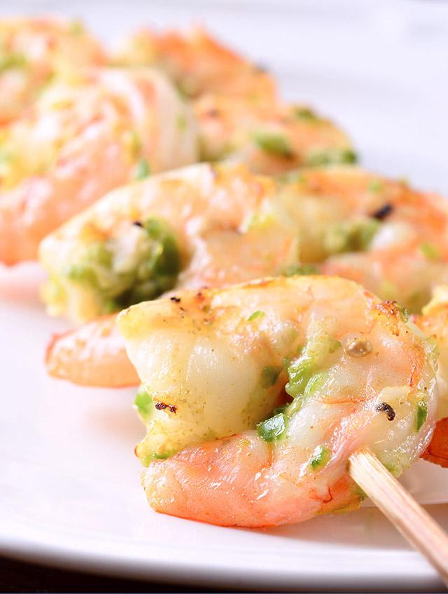 Jalapeno Garlic Grilled Prawns