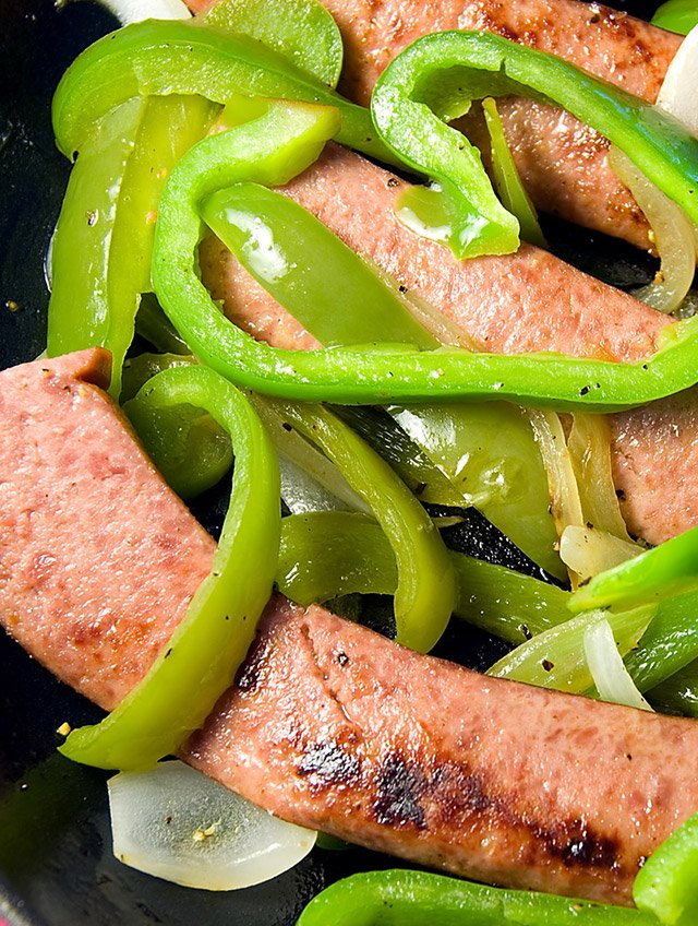 Kielbasa with Peppers and Onions