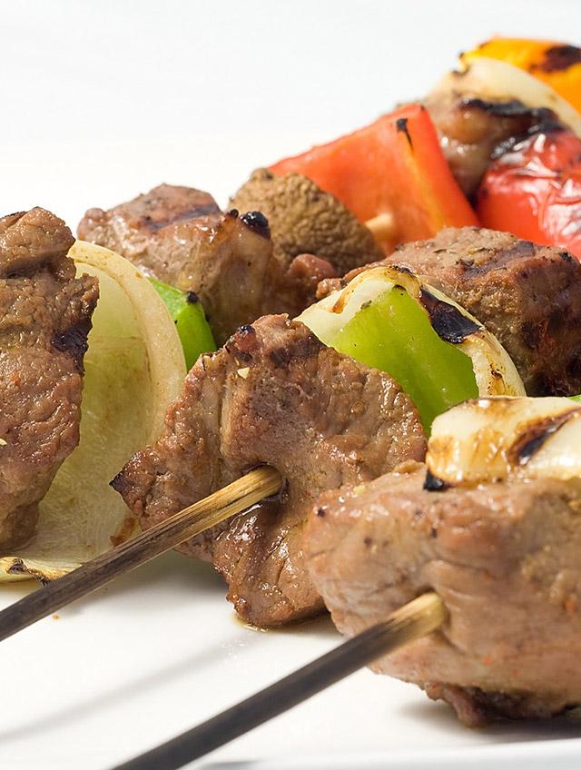 Marinated Beef and Veggie Skewers