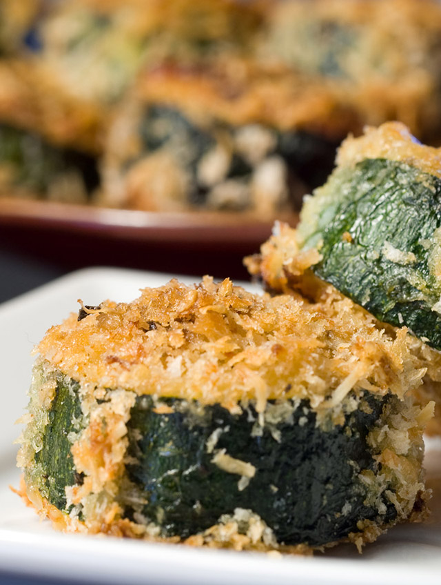 Mozzarella Stuffed Zucchini Bites