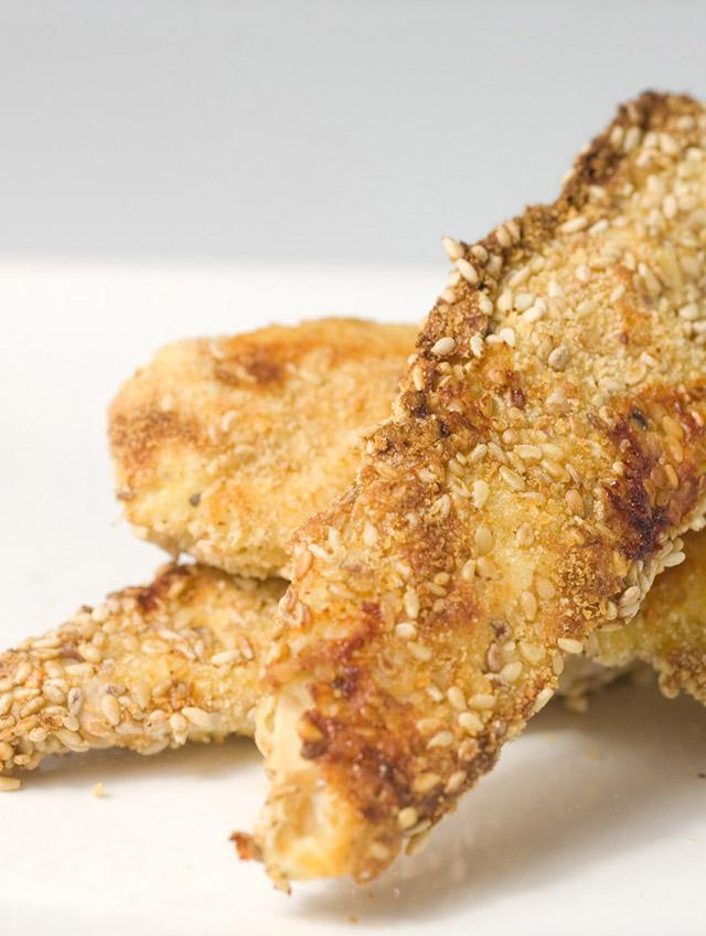 Oven Baked Sesame Chicken Strips