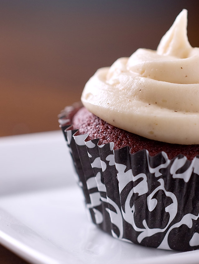 Red Velvet Cupcakes with Browned Butter Frosting