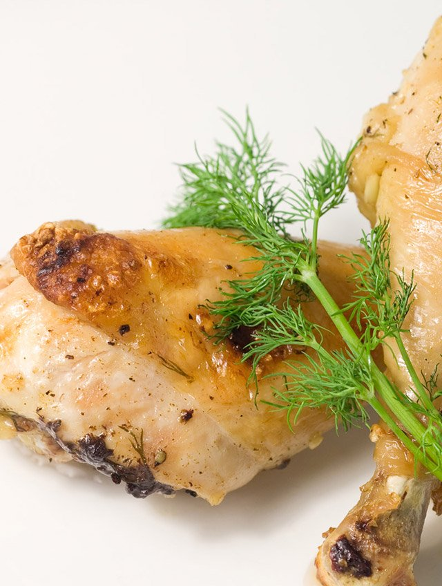 Roasted Chicken Drumsticks with Dill