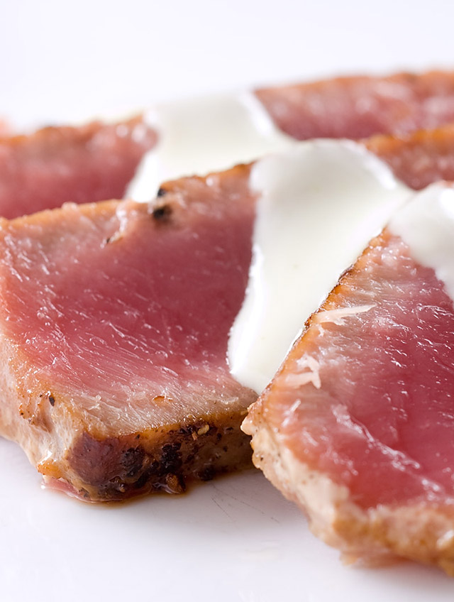 Seared Ahi Tuna with Wasabi Cream