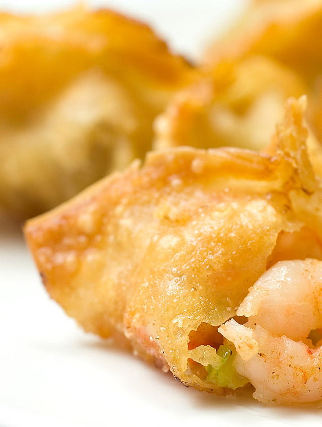 Shrimp and Vegetable Wontons