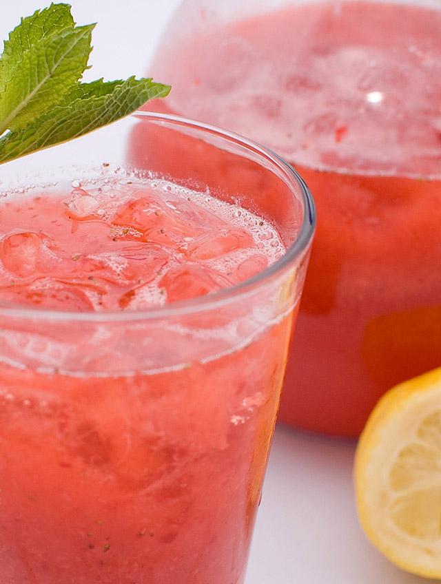 Sparkling Strawberry Lemonade - Life's Ambrosia