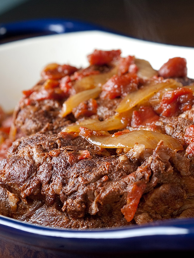 Spiced Slow Cooker Pot Roast with Tomatoes
