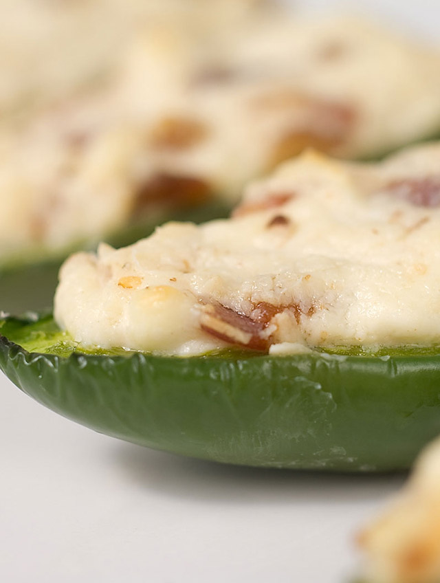 Cream Cheese and Bacon Stuffed Jalapenos
