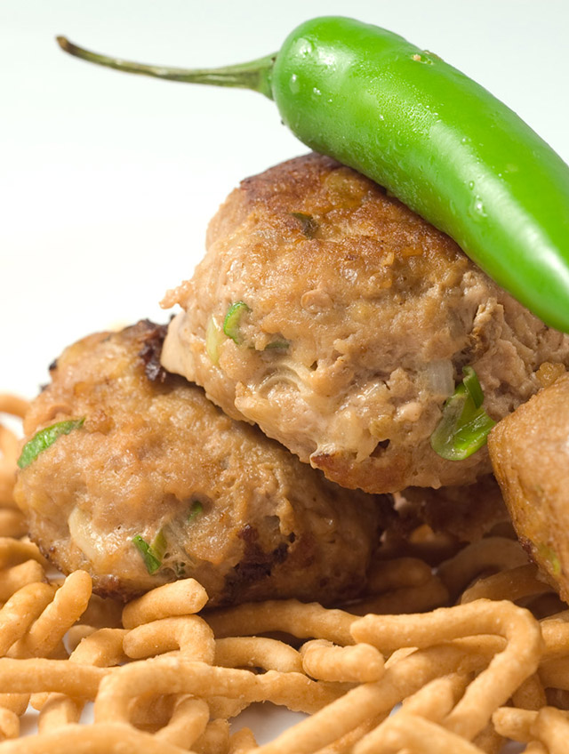 Turkey Meatballs with Peppers and Mushrooms