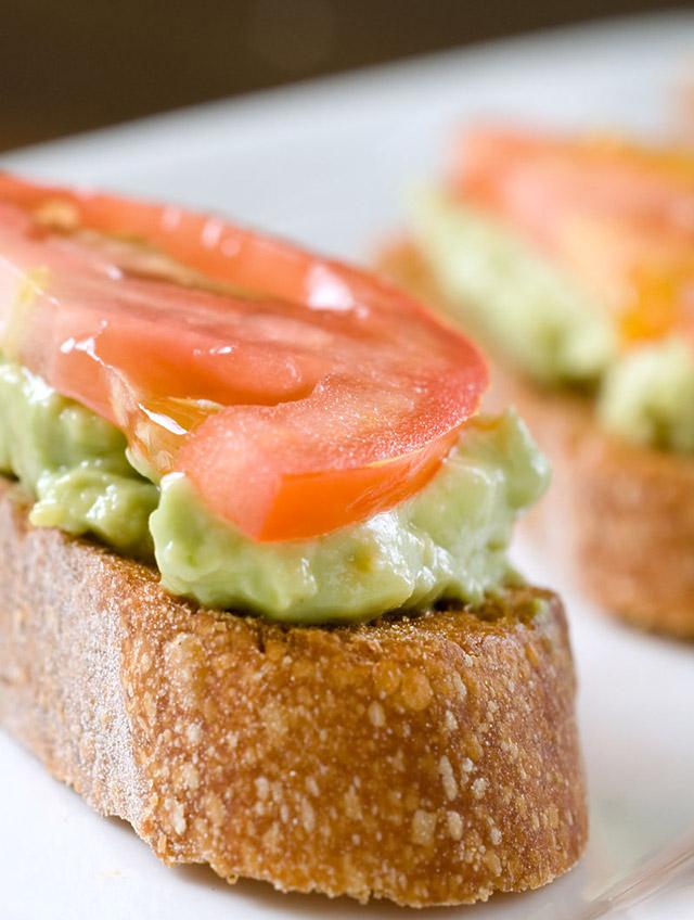 Avocado and Tomato Crostini