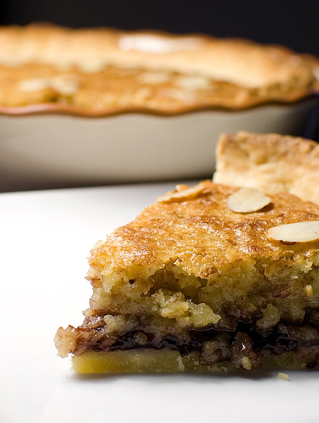Bakewell Tart…err…Pudding with Blackberry Preserves