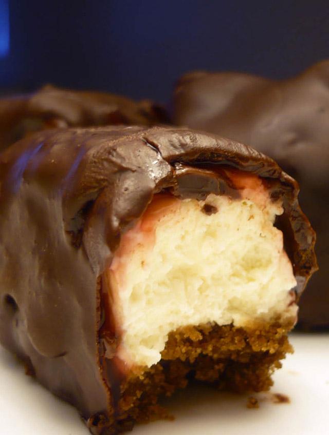 Chocolate Covered Cherry Cheesecake Bites