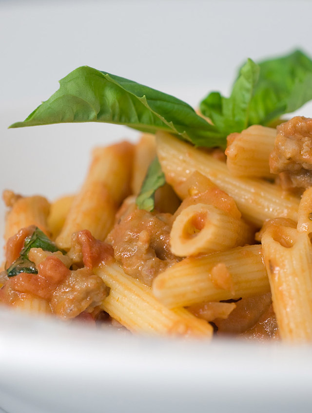 Creamy Tomato Penne with Italian Sausage