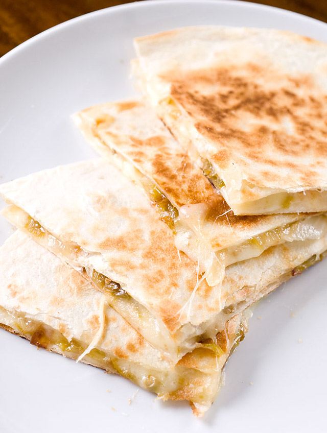 Roasted Hatch Chile Quesadillas