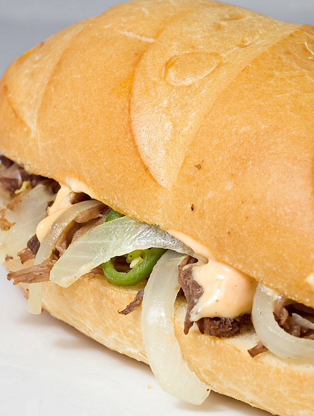 Shredded Beef Sandwiches with Sriracha Mayo