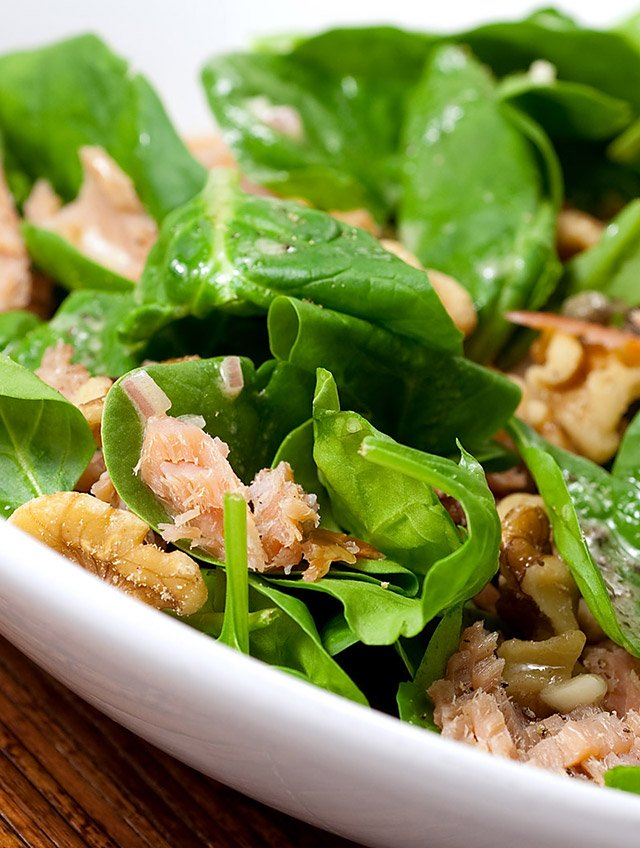 Smoked Salmon Salad with Caper Vinaigrette