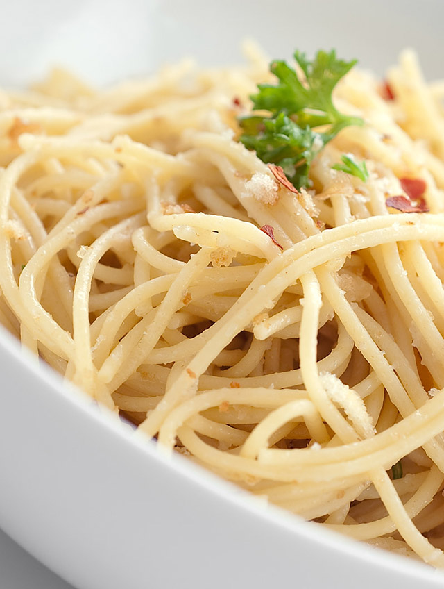Spaghetti with Bread Crumbs and Anchovies