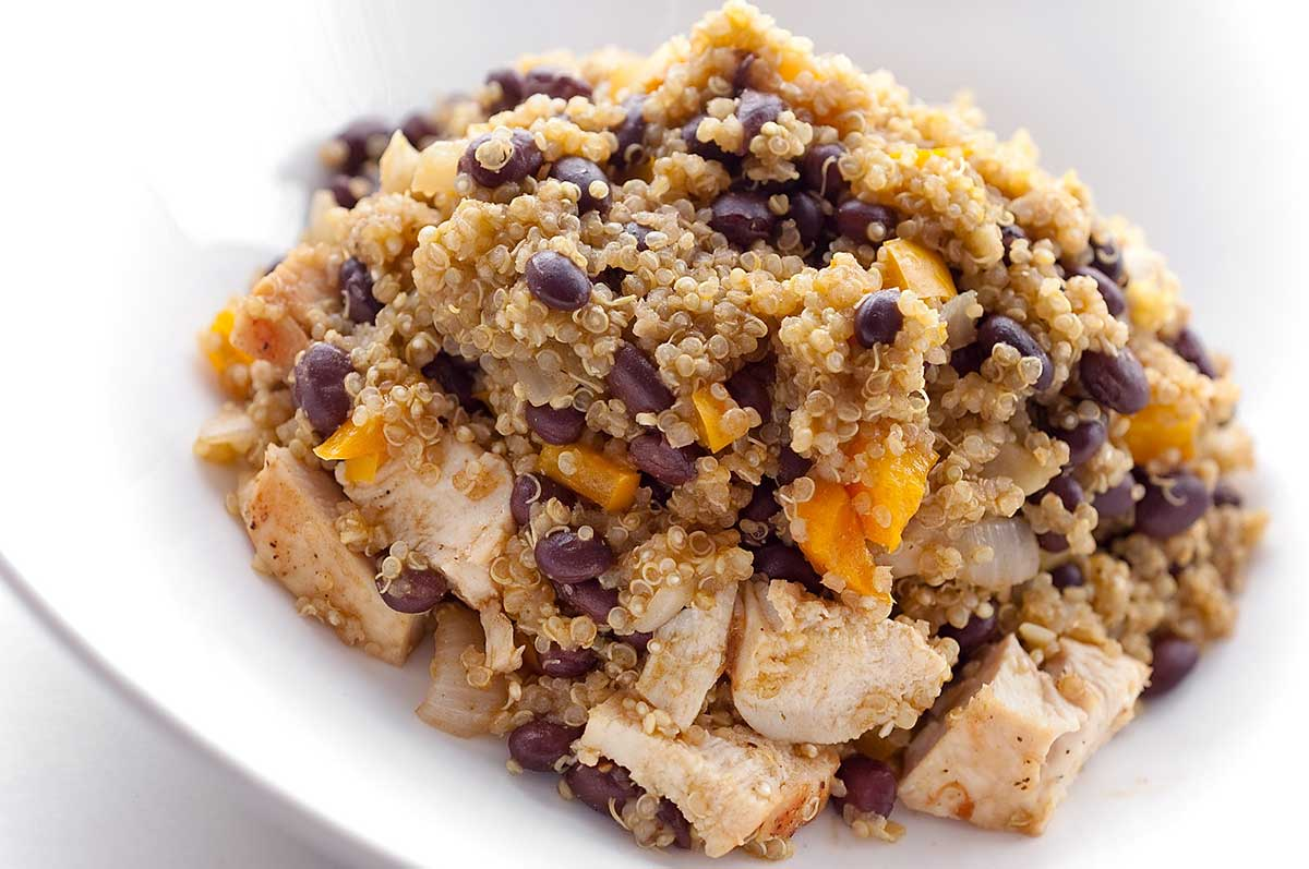 Quinoa with Chicken and Black Beans