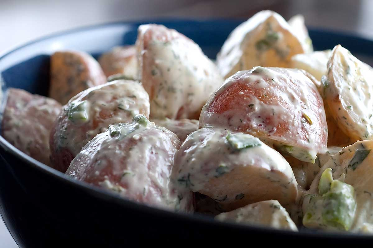 Red Potato Salad with Dill and Tarragon