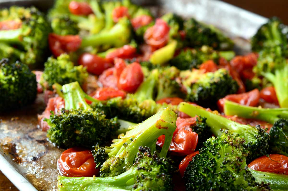 Roasted Broccoli and Tomatoes