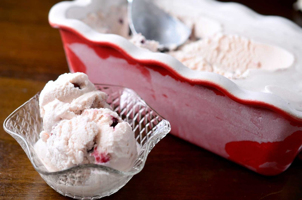 Roasted Cherry and Dark Chocolate Chunk Ice Cream