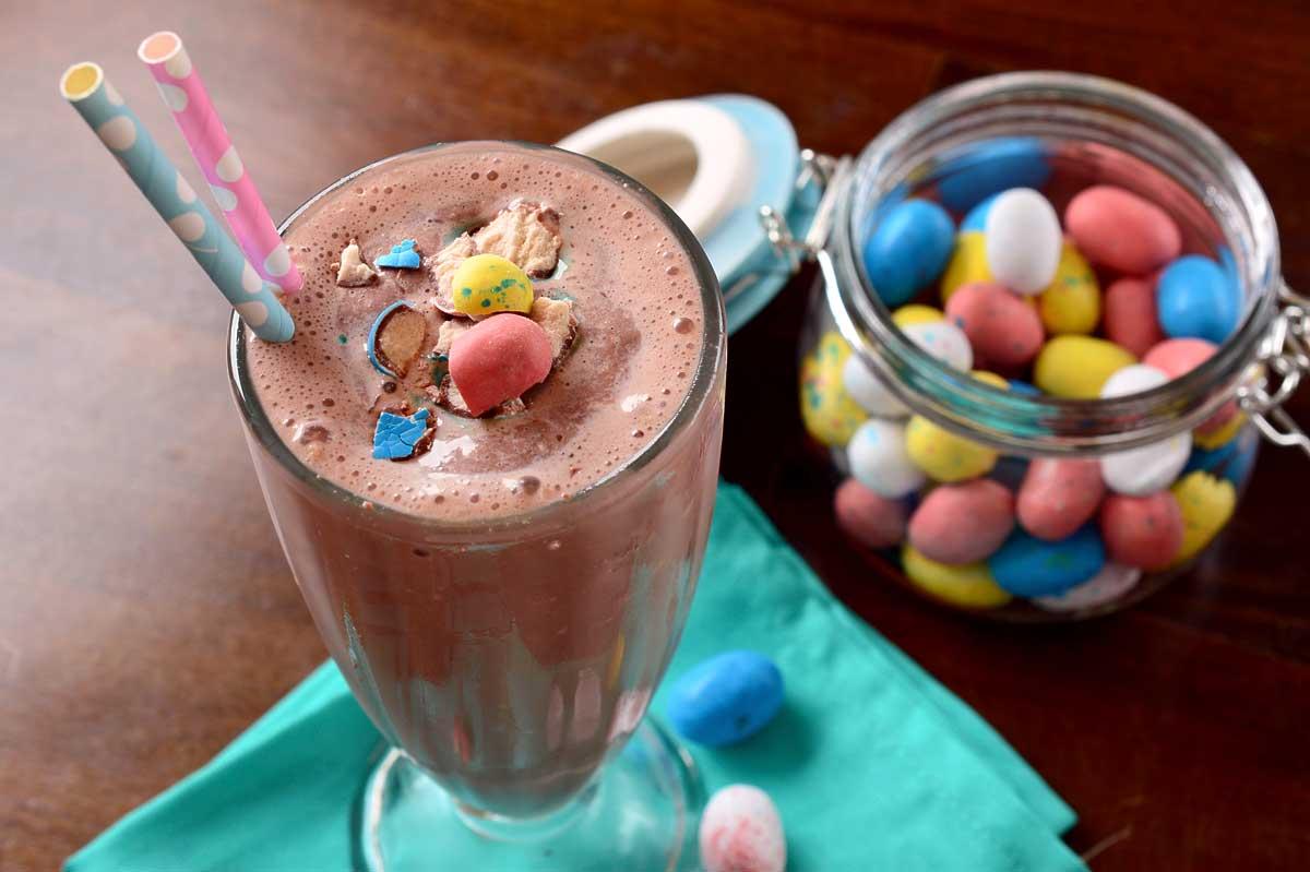 Robin's Egg Chocolate Milkshake