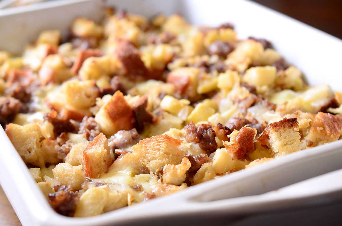 Sausage, Apple and Brie Stuffing