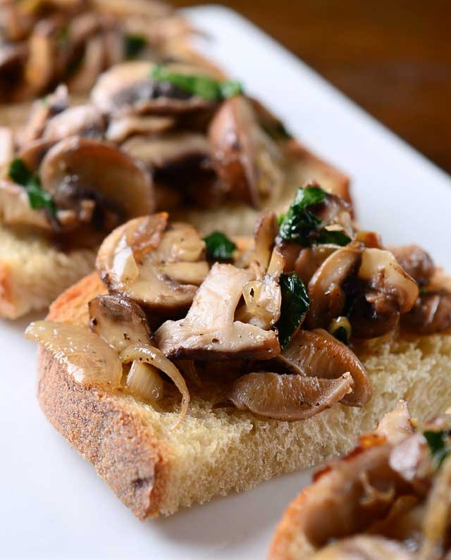 Sauteed Mushroom Bruschetta