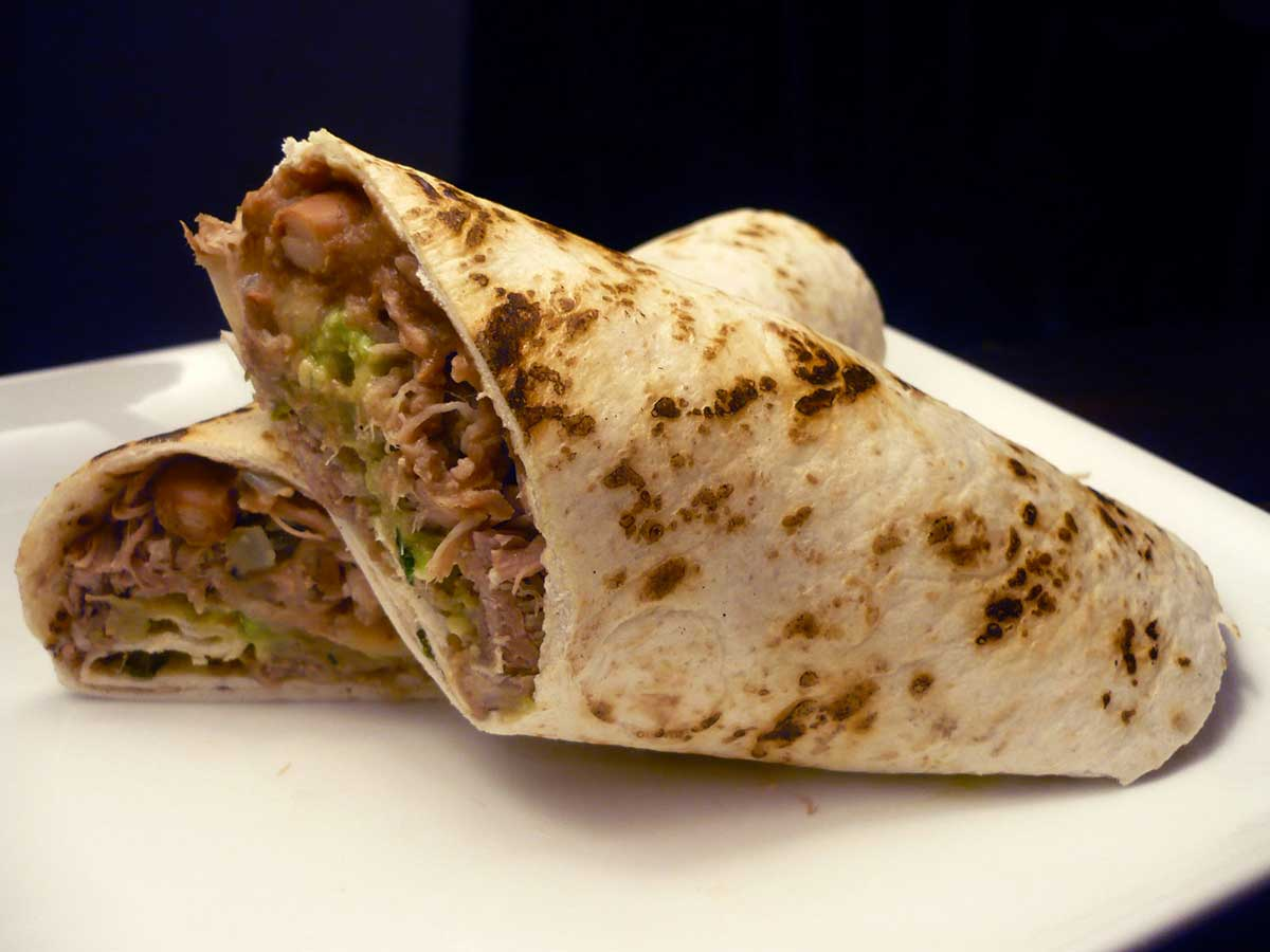 Shredded Pork Burrito