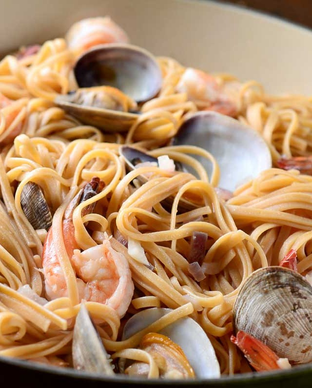 Shrimp and Clam Linguine
