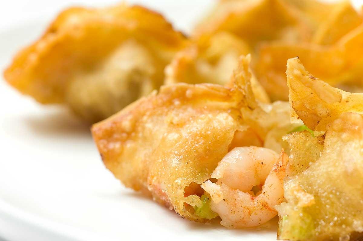 Shrimp and Vegetable Wontons