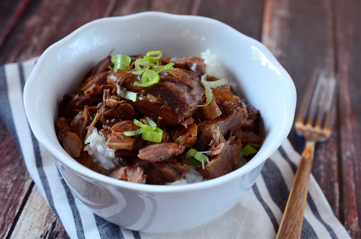 Slow cooker chicken pork adobo recipe