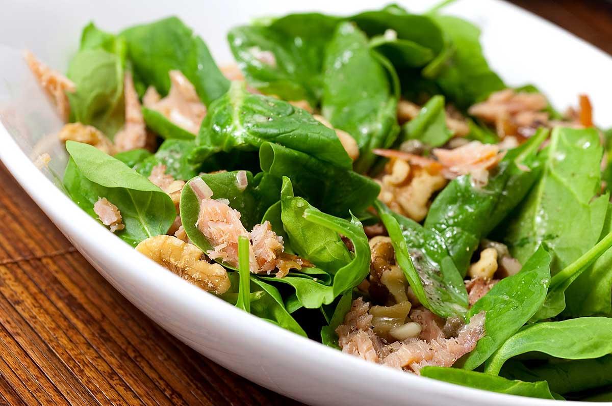 Smoked Salmon Salad with Caper Vinaigrette